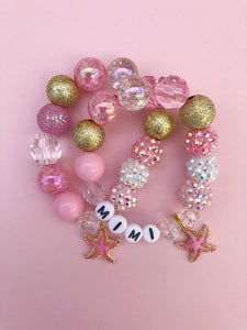 Starfish Charm Bracelet - Customizable