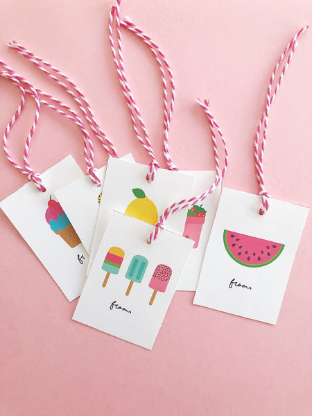 Sweet Summer Printable Gift Tags - FREE Digital Download