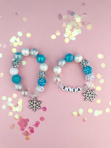 Snowflake Charm Bracelet - Customizable