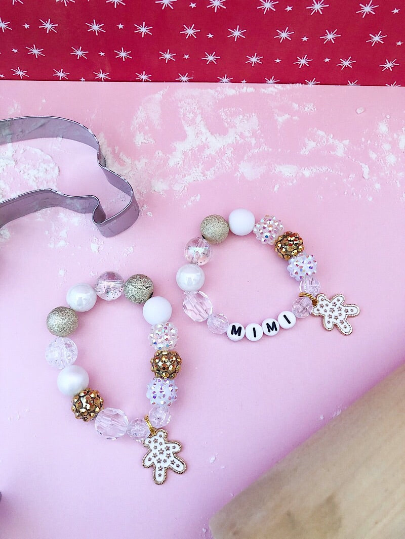Sugar Cookie Bear Charm Bracelet - Customizable