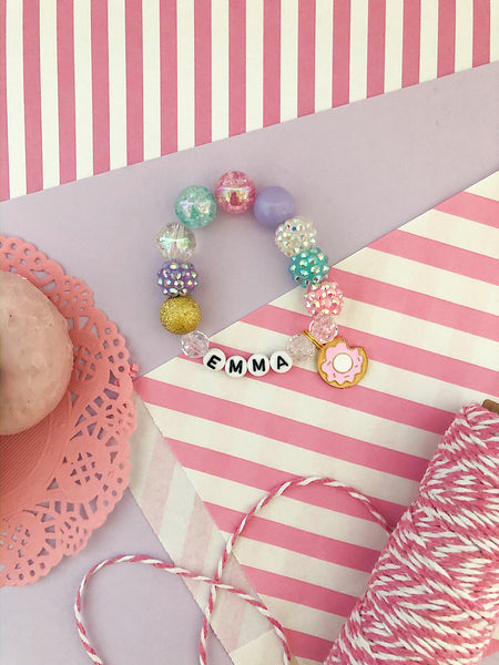 Mini Donut Charm Bracelet - Customizable