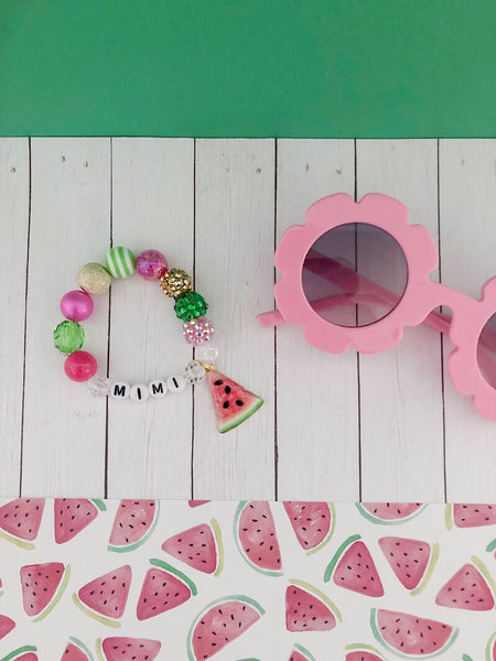 Watermelon Charm Bracelet - Customizable