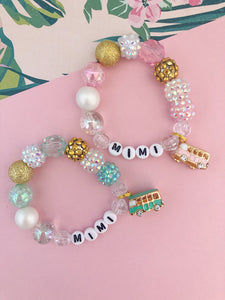 Beach Van Charm Bracelet - Customizable