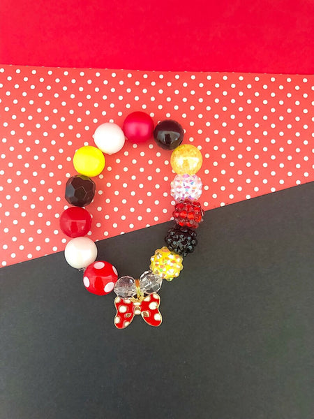The Magical Collection - Polka Dot Bow Charm Bracelet - Customizable