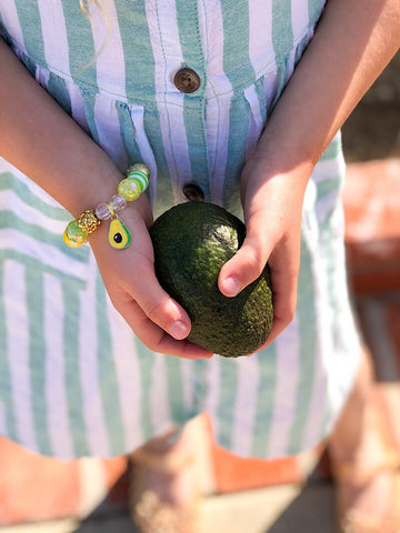 Avocado Charm Bracelet - Customizable