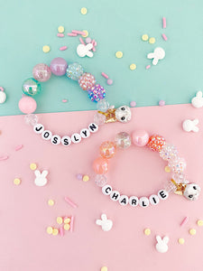 Rabbit Charm Bracelet - Customizable