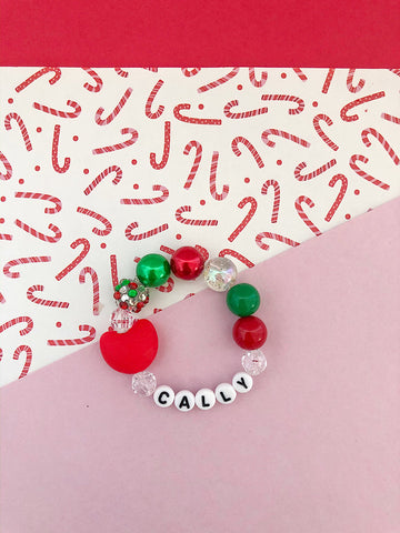 Christmas Heart Bracelet - Customizable