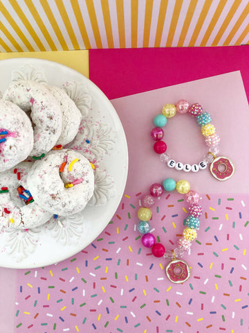 Donut Charm Bracelet - Customizable