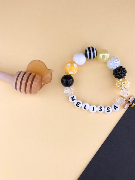 Honeybee Charm Bracelet - Customizable