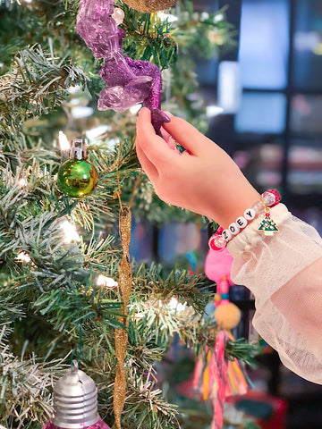 Christmas Tree Charm Bracelet - Customizable