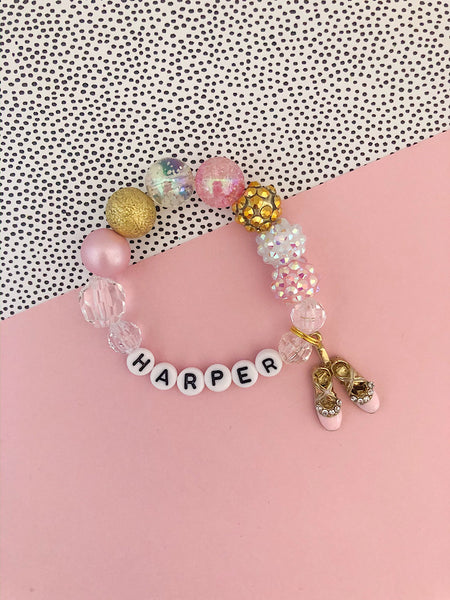 Ballet Charm Bracelet - Customizable