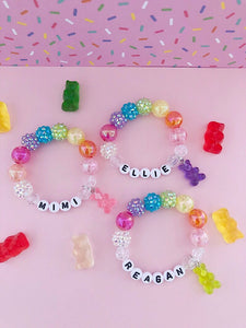 Gummy Bear Charm Bracelet - Customizable