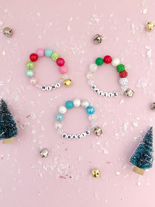 Jingle Bell Charm Bracelet - Customizable