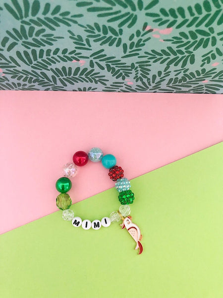 The Magical Collection - Tiki Bird Charm Bracelet - Customizable