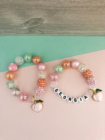 Just Peachy Bracelet - Customizable