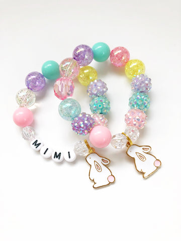 Bunny Rabbit Charm Bracelet - Customizable