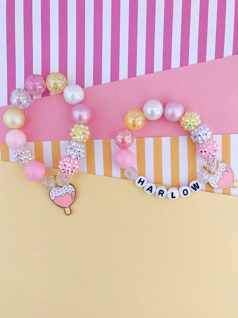 Heart Lollipop Charm Bracelet - Customizable
