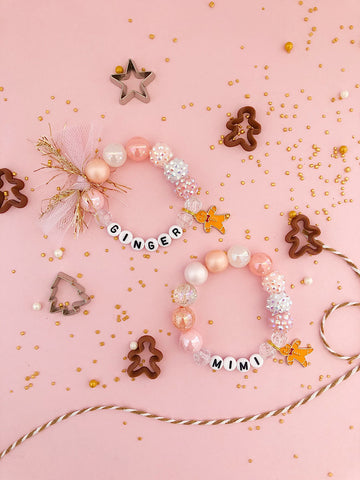 Gingerbread Charm Bracelet - Customizable
