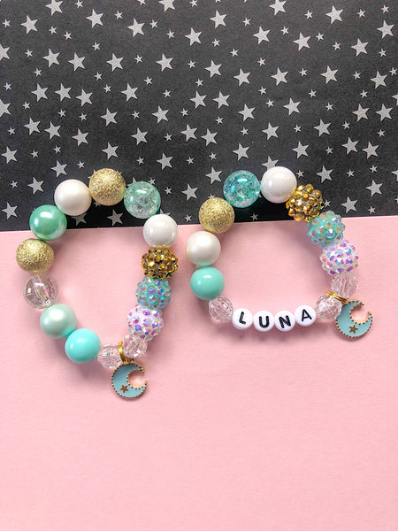 Little Moon Charm Bracelet - Customizable