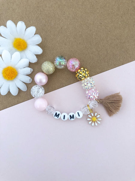 Daisy Charm Bracelet - Customizable