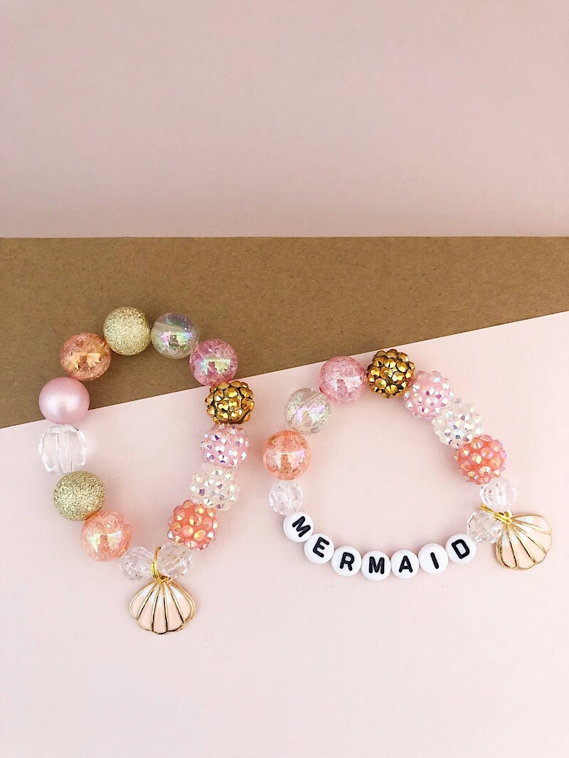 The Rainbow Mermaid Seashell Bracelet - Customizable