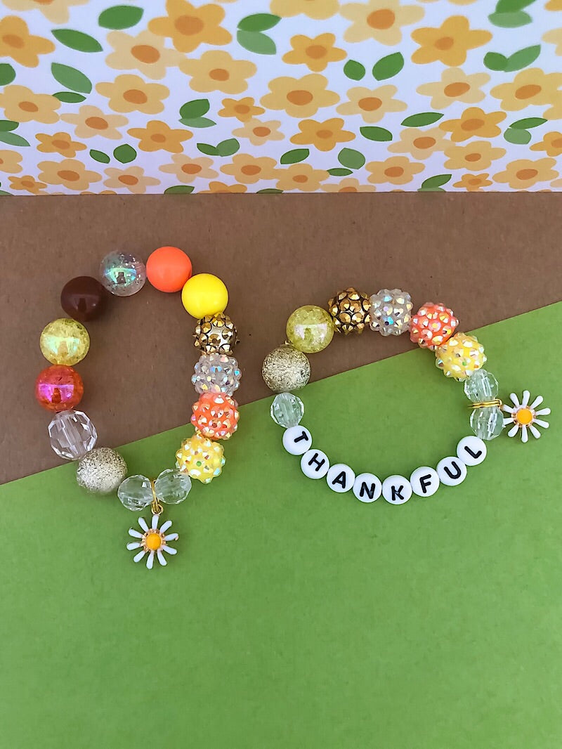 Give Thanks Daisy Bracelet - Customizable
