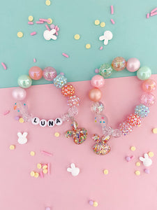 Confetti Bunny Charm Bracelet - Customizable