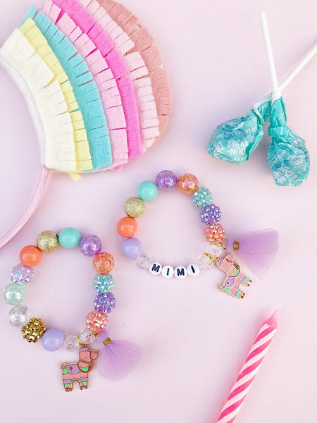 Party Piñata Charm Bracelet - Customizable