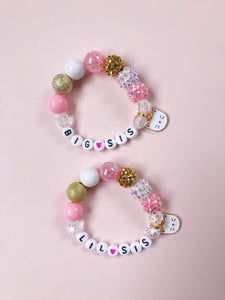 Big Sis OR Lil Sis Charm Bracelet - Kitty