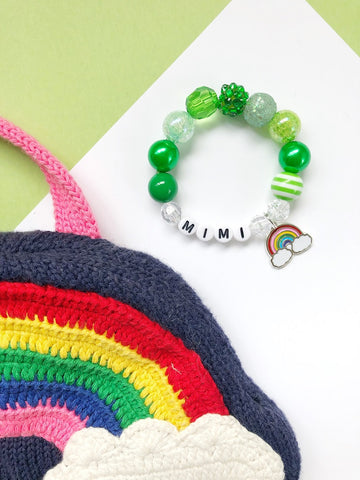 St. Patrick's Day Rainbow Bracelet - Personalized