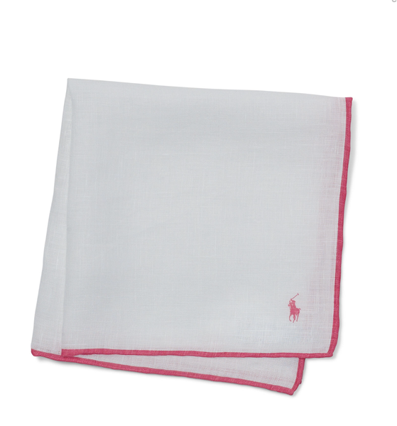 Ralph Lauren Pink Pony Linen Pocket Square