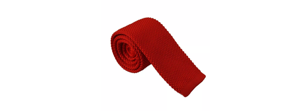 Bright Red Knit Tie