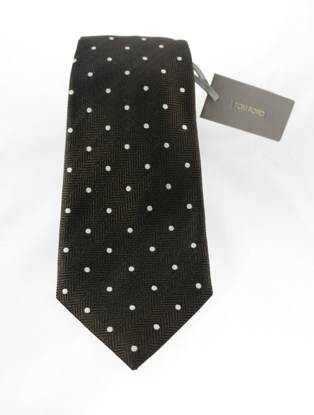 Tom Ford Chocolate Polka Dot Tie