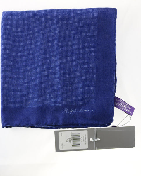 Ralph Lauren Purple Label Blue Pin Dot Cashmere Pocket Square