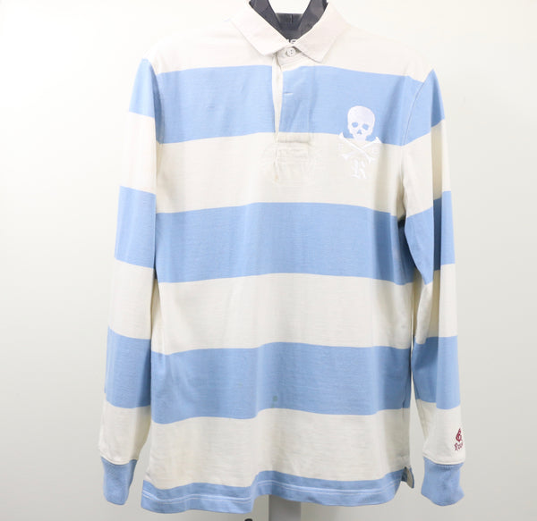 Rugby By Ralph Lauren Cream/Blue Striped Rugby