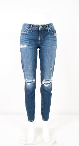 Silver distressed skinny jeans Reg & plus size2