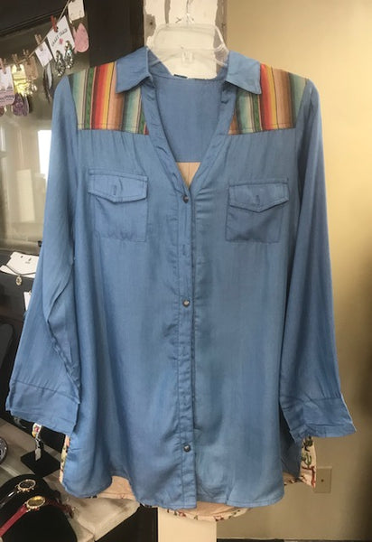 women's chambray tunic