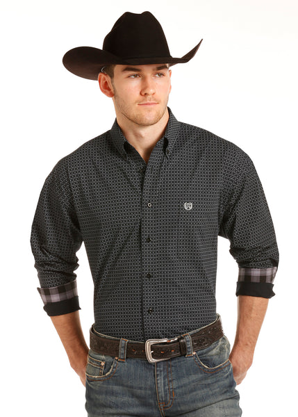 Dark Gray Panhandle Button Down