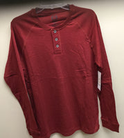 Red long sleeve Henley