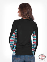 Women's black & serape full zip track jacket by cowgirl tuff