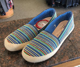Women's slip on serape blue shoes