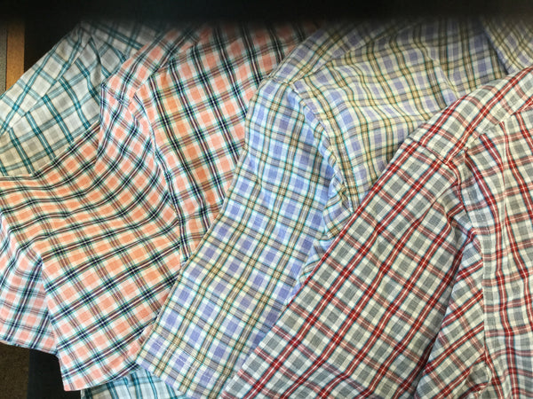 Plaid Short Sleeve Button Down Plaid