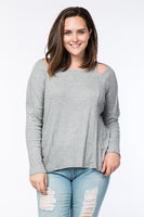Women's Plus long sleeve top