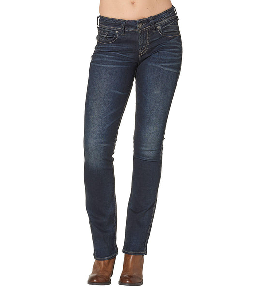 Women's silver jeans, Suki, mid-slim, boot