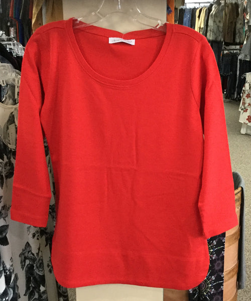 Red 3/4 sleeve Tee