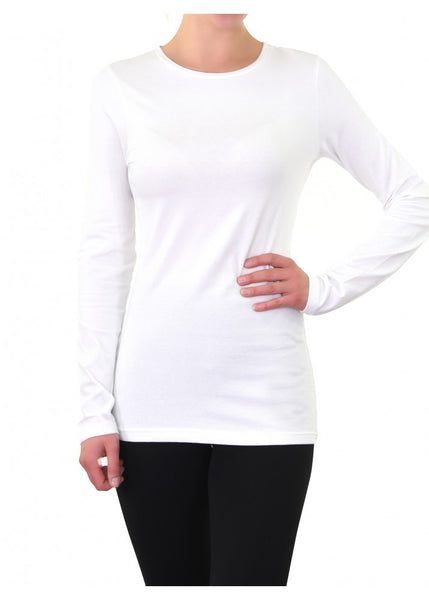 Women's Plus Longsleeve Crewneck Tee-Assorted Colors
