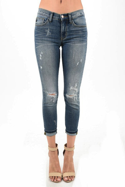 Women's Destroyed Boyfriend Denim
