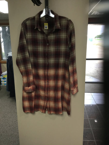 Women's Flannel Shirt Dress