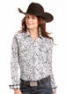 Women's White Paisley Western Shirt