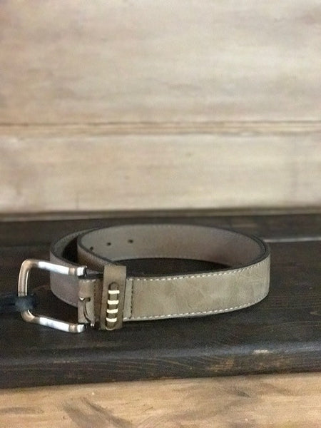 Leather Belt-Khaki